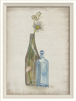 Flower in Bottle 3 Art Print