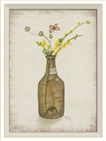 Flower in Bottle 6 Art Print - USA-Made Springtime Décor | BSEID