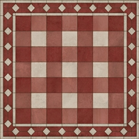 vinyl floor mat square rug gingham red white check