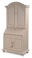 cabinet desk crown molding arched top compartments drop down surface lower cabinets