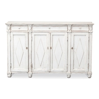 antique white sideboard shelves
