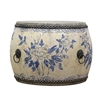 Drum Table with Antiqued Designs - Sky Inspired Home Décor