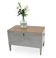 Trunk Side Table with Secret Storage