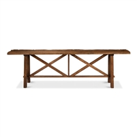 reclaimed pine console table, rugged console table, extra long console table, long sofa table, long wood sofa table, rustic sofa table