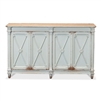 pine sideboard soft blue natural