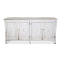 pine sideboard white cross doors