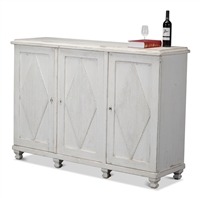 cabinet diamonds fluted white washed 3-doors 4-doors shelves hidden drawers distressed antiqued pine wood