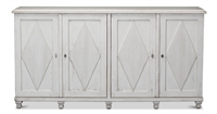 sideboard cabinet buffet 4-door whitewashed
