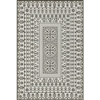 vintage vinyl floor mat black white