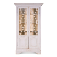 tall pine wood bookcase glass doors adjustable shelves gray yellow