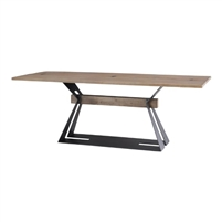 acacia wood dining table steel