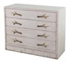 4-drawer distressed reclaimed pine white dresser antler handles
