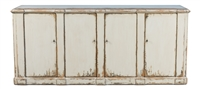 sideboard cabinet buffet 4-door whitewashed distressed reclaimed pine