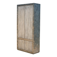 cupboard rustic transitional distressed rustic grey removable shelves