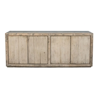 gray sideboard shelves pine