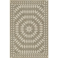 tan brown neutral sunburst vinyl floor mat