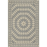 tan gray neutral sunburst vinyl floor mat