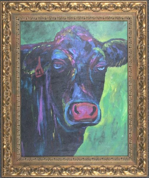Black Cow Wall Art