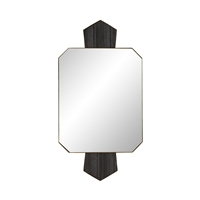 emerald shape wall mirror black marble