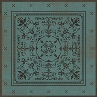 Luxury Designer Spicher & Company Pattern 22 Plato Vinyl Floorcloth
