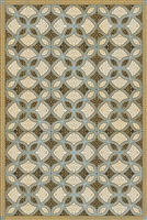 Luxury Designer Spicher & Company Pattern 25 Gustav Vinyl Floorcloth