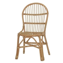 rattan dining chair natural
