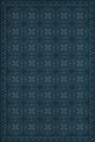 Spicher & Company Pattern 28 Blue Bandana Vinyl Floorcloth | BSEID