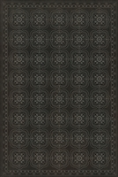 Designer Spicher & Company Pattern 28 Dark & Deep Vinyl Floorcloth | BSEID