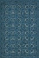 Pattern 28 Dark Blue Waters Vinyl Floorcloth