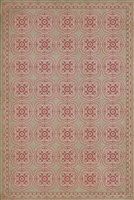 Spicher & Company Pattern 28 Dollhouse Vinyl Floorcloth - USA-Made Rug | BSEID