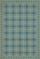 Spicher & Company Pattern 28 Quietude Vinyl Floorcloth - USA-Made Rug | BSEID