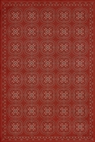 Designer Spicher & Company Pattern 28 Red Bandana Vinyl Floorcloth | BSEID