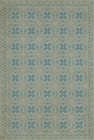 Spicher & Company Pattern 28 Serenity Vinyl Floorcloth - USA-Made Rug | BSEID