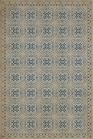 Spicher & Company Pattern 28 Solitude Vinyl Floorcloth - USA-Made Rug | BSEID