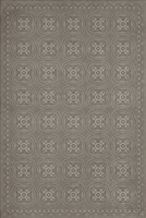 Spicher & Company Pattern 28 Stilled Vinyl Floorcloth - USA-Made Rug | BSEID