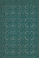 Spicher & Company Pattern 28 Teal Bandana Vinyl Floorcloth | BSEID