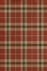 Spicher & Co. vinyl floor cloth chair mat tartan plaid red tan