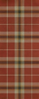 Spicher & Co. vinyl floor cloth chair mat tartan plaid red tan runner