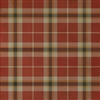 Spicher & Co. vinyl floor cloth chair mat tartan plaid red tan square