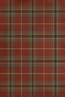 Spicher & Co. vinyl floor cloth chair mat tartan plaid red