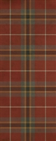 Spicher & Co. vinyl floor cloth chair mat tartan plaid red runner