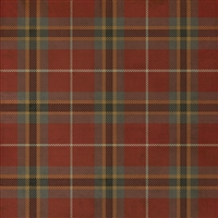 Spicher & Co. vinyl floor cloth chair mat tartan plaid red square