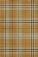 Spicher & Co. vinyl floorcloth chair mat tartan plaid yellow gold