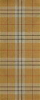 Spicher & Co. vinyl floorcloth chair mat tartan plaid yellow gold runner