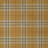 Spicher & Co. vinyl floorcloth chair mat tartan plaid yellow gold square