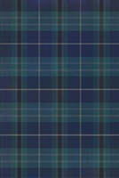 Spicher & Co. vinyl floorcloth chair mat tartan plaid blue