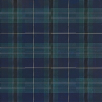 Spicher & Co. vinyl floorcloth chair mat tartan plaid blue square