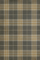 Spicher & Co. vinyl floorcloth chair mat tartan plaid gray beige gold