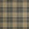 Spicher & Co. vinyl floorcloth chair mat tartan plaid gray beige gold square