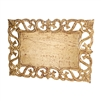 gold leaf placemat rectangle cut-outs distressed